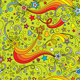vector seamless color star pattern