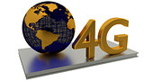 4G Internet and global business concepts