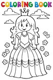 Coloring book princess theme 3