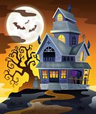 Image with haunted house thematics 2