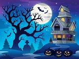 Image with haunted house thematics 6