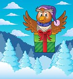 Owl with gift theme image 3