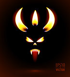 Glowing silhouette of the devil