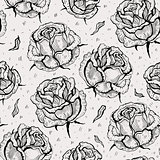 Roses. Seamless vector pattern.