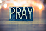 Pray Concept Metal Letterpress Type
