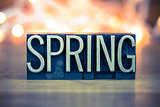 Spring Concept Metal Letterpress Type