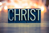 Christ Concept Metal Letterpress Type