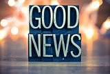 Good News Concept Metal Letterpress Type