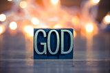 God Concept Metal Letterpress Type