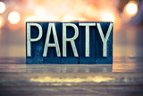 Party Concept Metal Letterpress Type