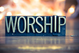 Worship Concept Metal Letterpress Type