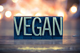 Vegan Concept Metal Letterpress Type