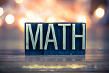 Math Concept Metal Letterpress Type