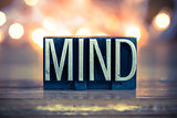 Mind Concept Metal Letterpress Type