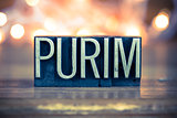 Purim Concept Metal Letterpress Type