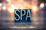 Spa Concept Metal Letterpress Type