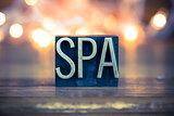 Spa Concept Metal Letterpress Type