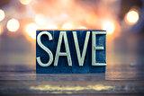 Save Concept Metal Letterpress Type