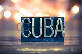 Cuba Concept Metal Letterpress Type