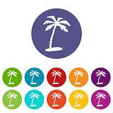 Island web flat icon