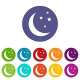 Moon flat icon