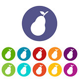 Pear web flat icon