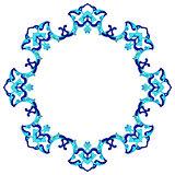 artistic ottoman pattern series eighty eight