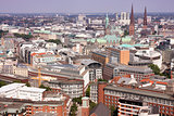 View on Hamburg from St. Michael's Church, Hamburg