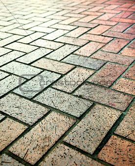 Modern stone street road pavement texture