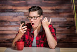 Surprised Woman on Cell Phone