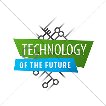 Abstract vector logo chip technology