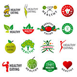 biggest collection of vector logos healthy eating