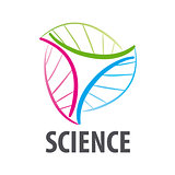 DNA vector logo in the form of multi-colored flower