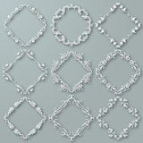 Set of white vector frames