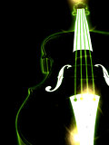 Glowing violin