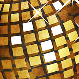 Grunge golden disco ball