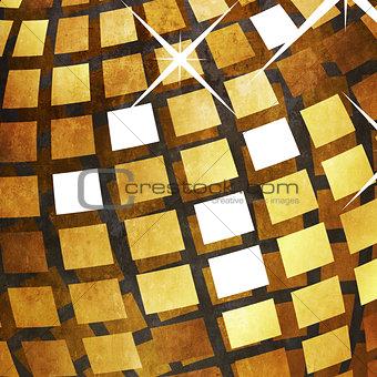 Grunge golden disco ball