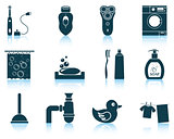 Set of bathroom icons