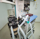 Ventilator machine in hospital operating room