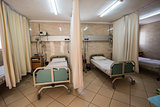 Beds in a hospital ICU ward