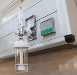 Closeup of oxygen flowmeter in hospital