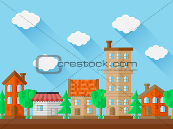 City landscape. Flat design