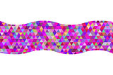 Geometric abstract ribbon of triangles red hue background