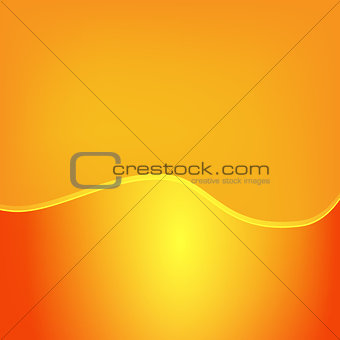 Abstract orange background with large glossy strip at the bottom