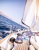 Beautiful sailboat in the sea