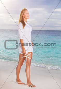 Beautiful woman in vacation