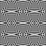 Design seamless monochrome illusion checkered pattern