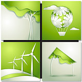 Eco background -go green