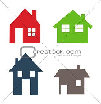 Houses icons set