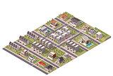 Vector isometric suburb map